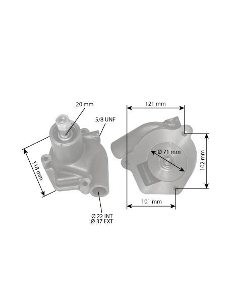 Pompe à eau IHC Farmall 755632R2