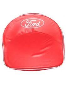 Coussin de siège rouge pour siège tôle tracteur Ford Fordson