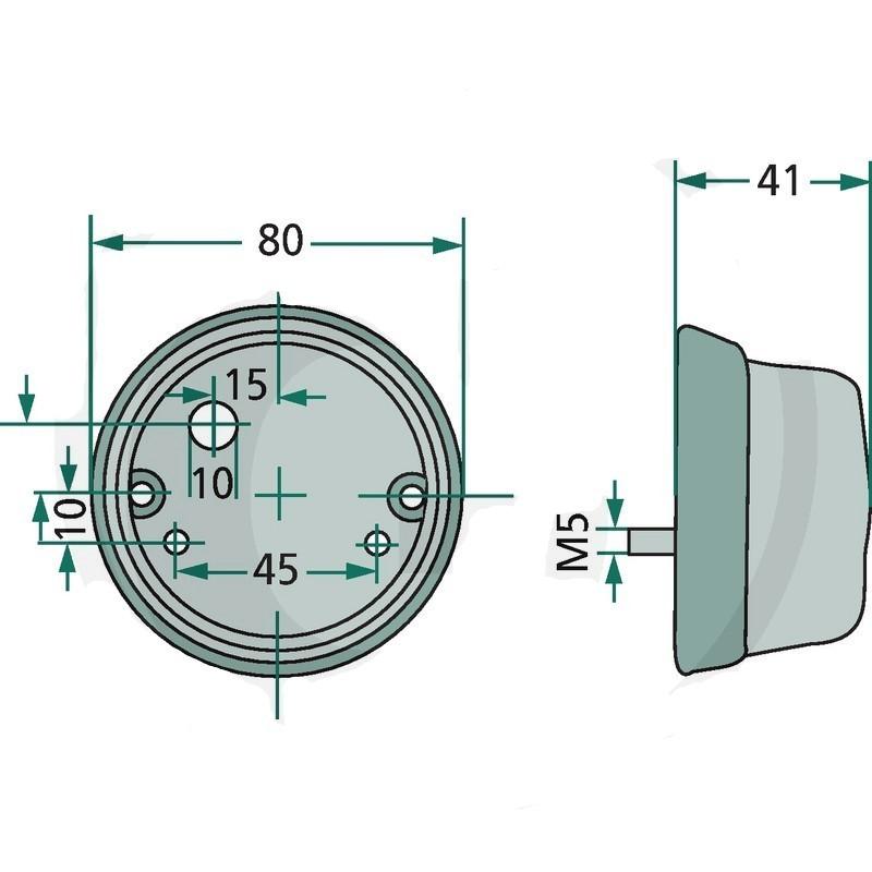 251953141 Épandage clignotants gauche avec marque d/'homologation E t3 OE Ref