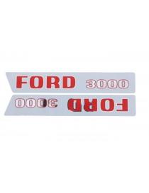 Jeu d'autocollants tracteur Ford 3000 (aile ronde)