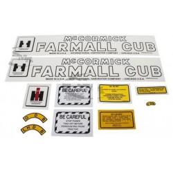 Jeu d'autocollants tracteur IHC Farmall Cub