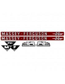Jeu d'autocollants Massey Ferguson 35 3406970M91