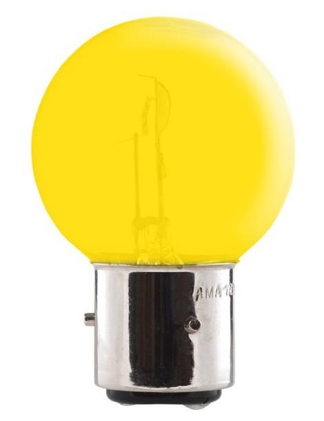 Ampoule jaune 3 ergots 12 volts 45/40 W BA21D