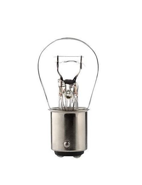 Ampoule blanche 2 ergots 12 volts 21/5W BAY15D