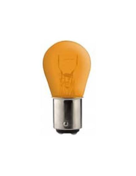 Ampoule jaune 2 ergots 12 volts 21/5W BAY15D